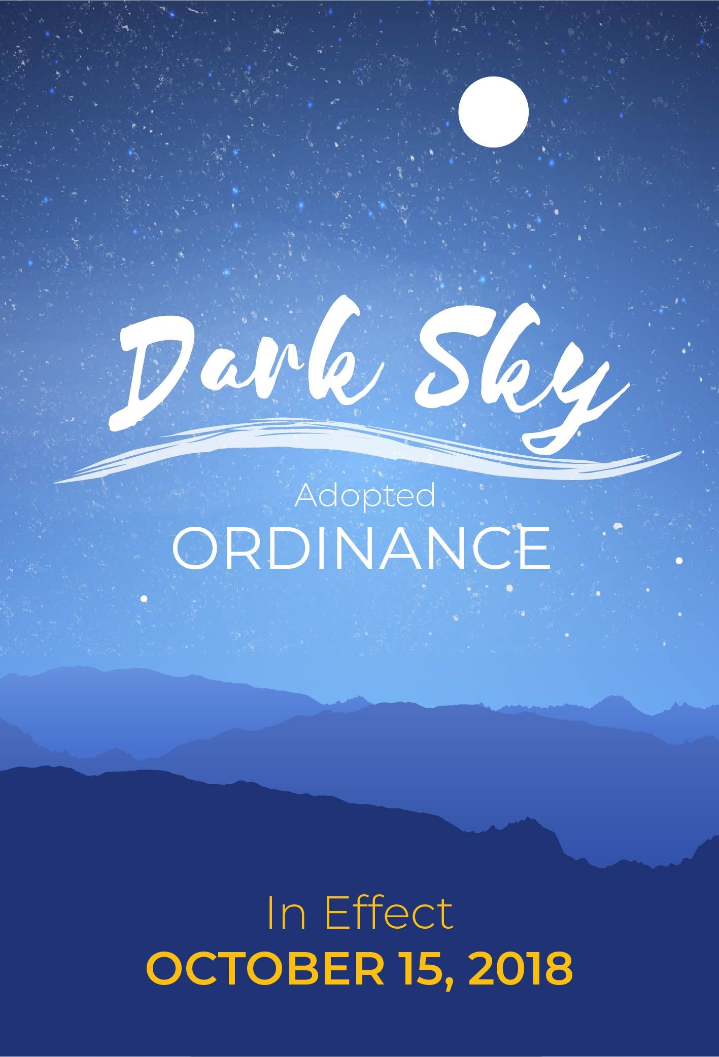 Dark Sky Ordinance In Effect