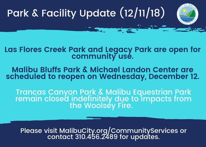 Park Facility Update 12.11.18