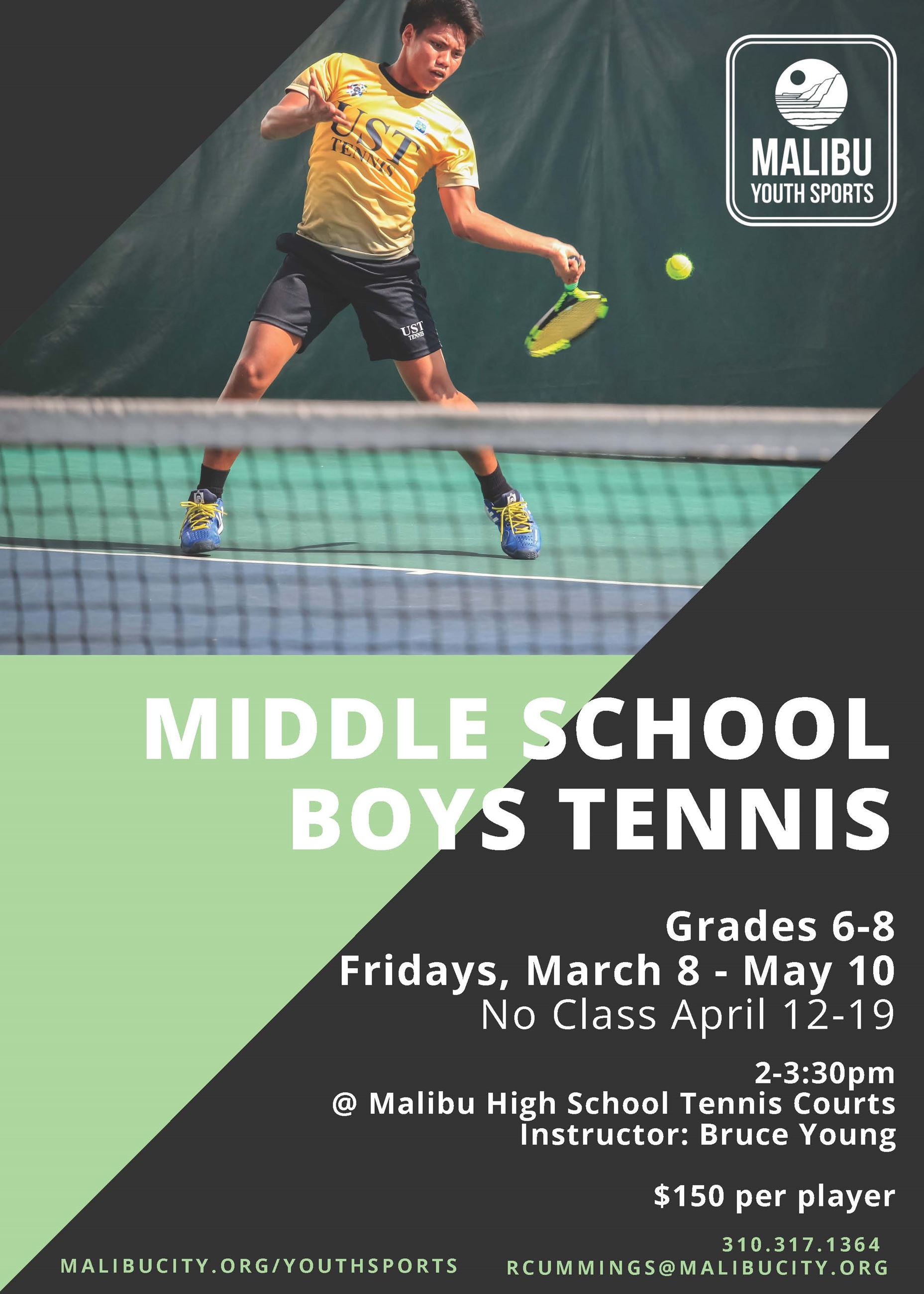 Spring 19 MS Tennis Flyer