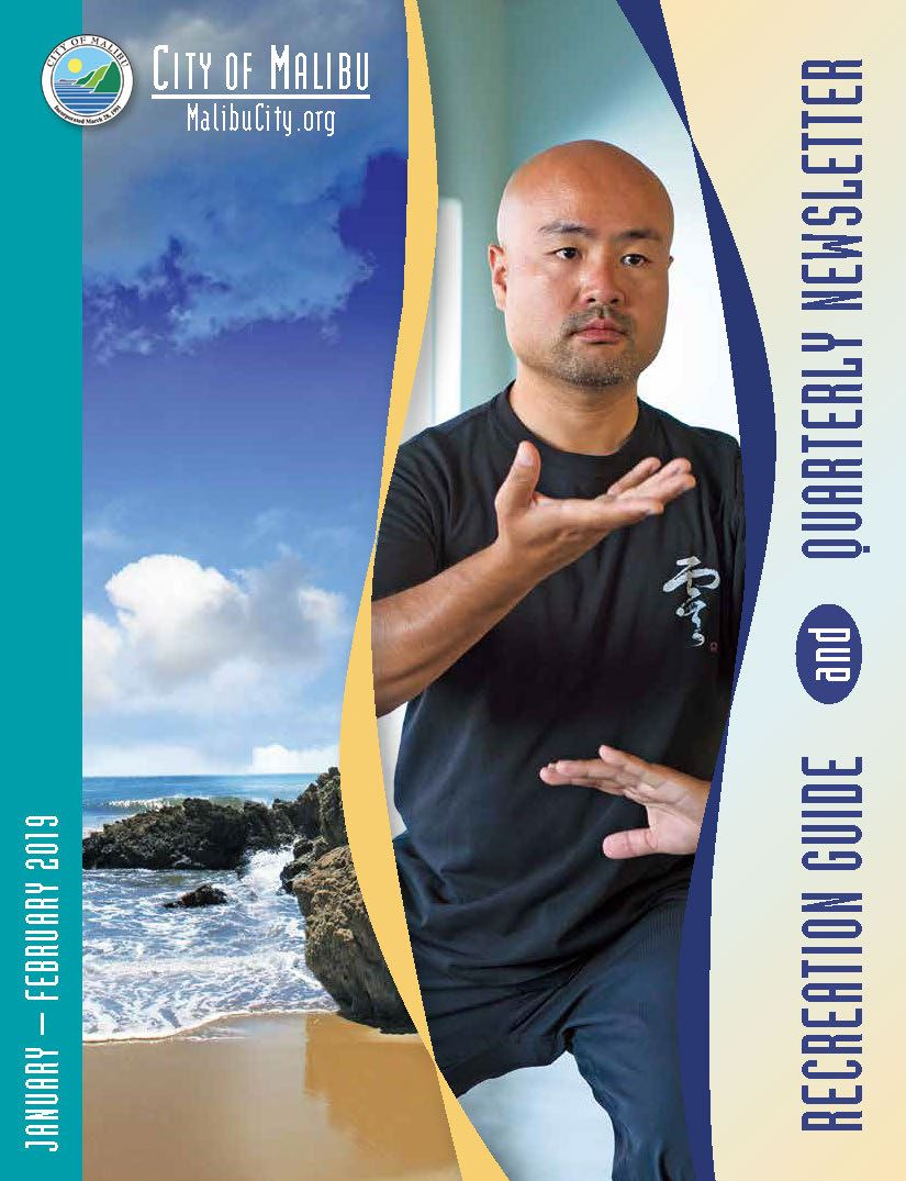 2019 Winter Recreation Guide Cover Page Tai Chi Instructor and Leo Carrillo State Beach