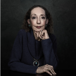 Joyce Carol Oates head shot; credit Dustin Cohen