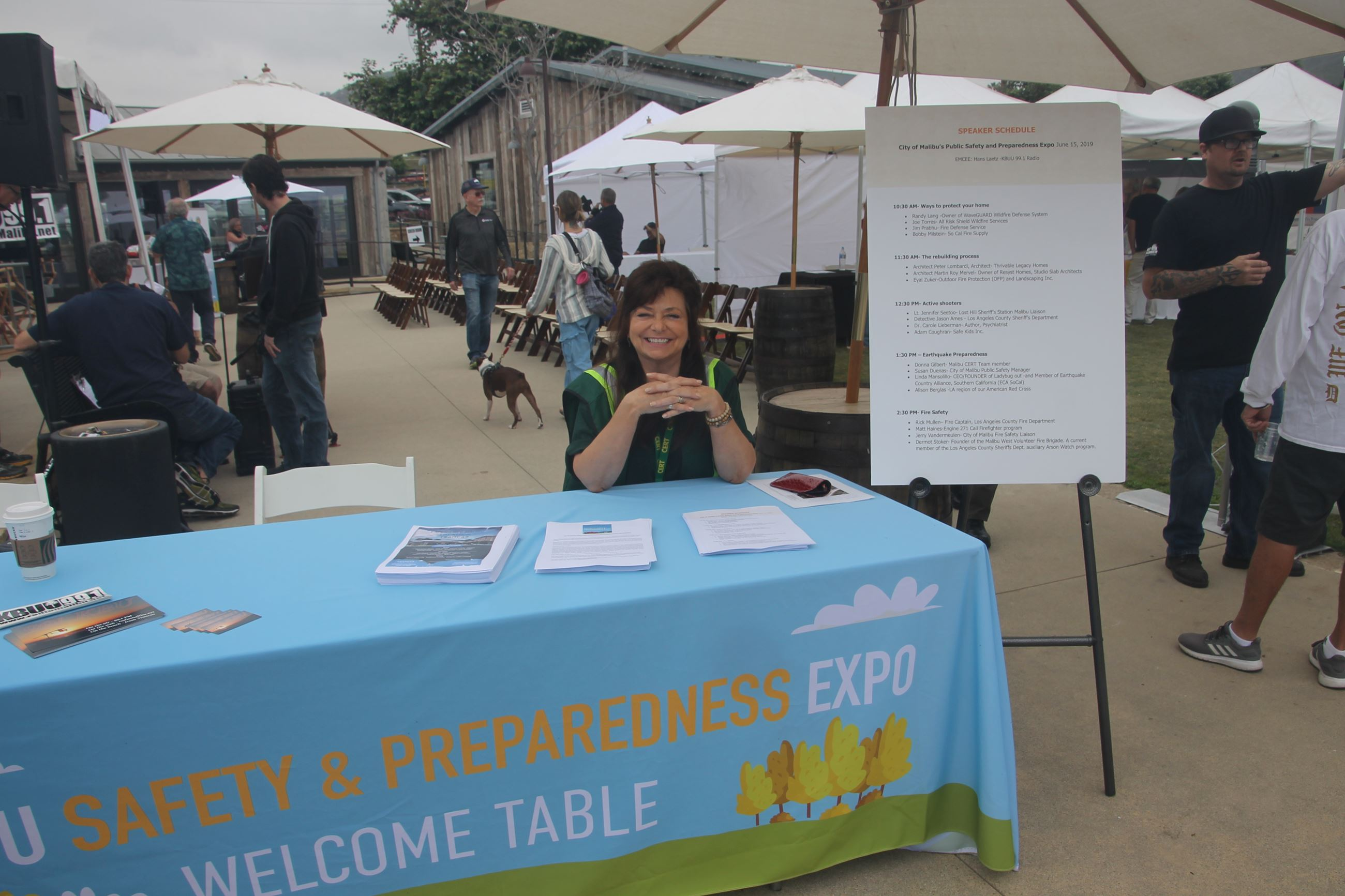 Expo Welcome Table