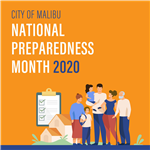 2020 Preparedness Month Image with House and List