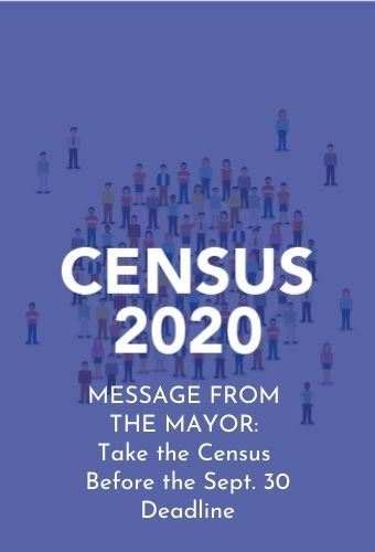 Mayor message census 9.17.20 newsflash