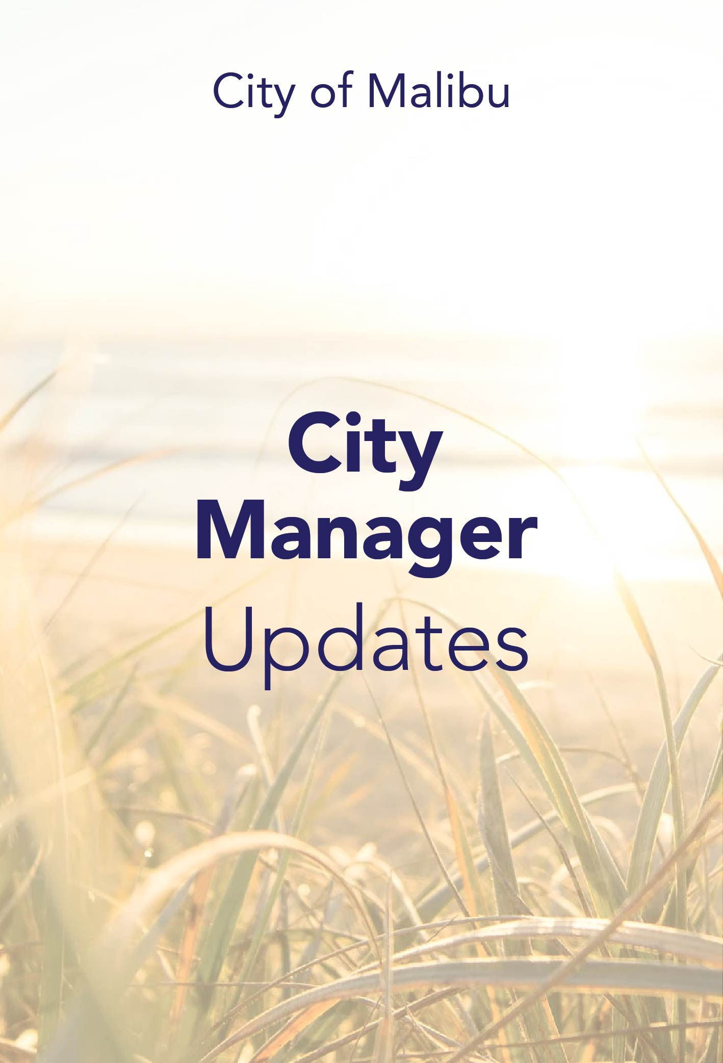 City Manager Update September 18, 2020