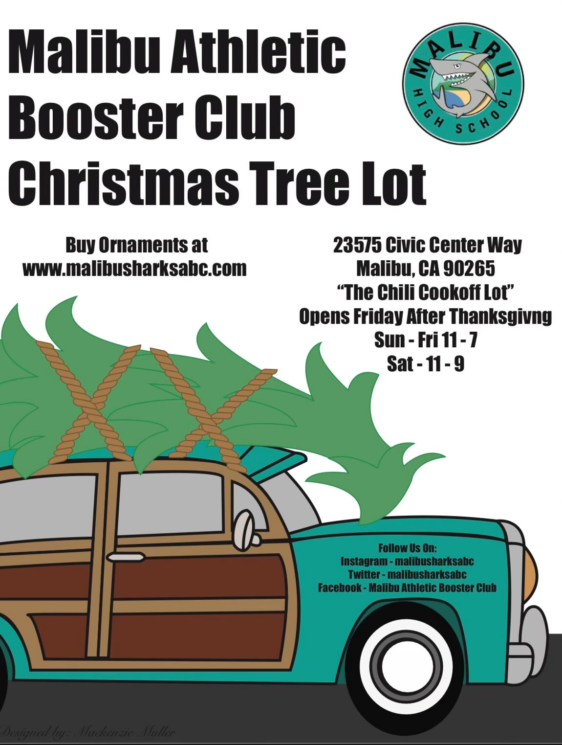 2020 Christmas Tree Lot Hosted by Malibu Athletics Booster Club