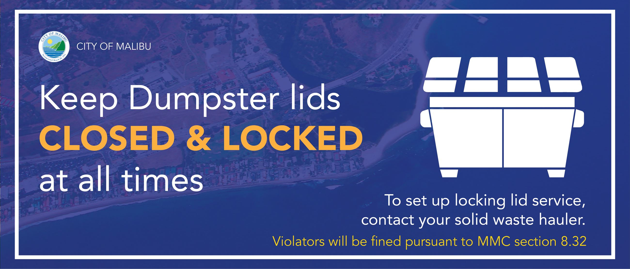 Locking Dumpsters Required