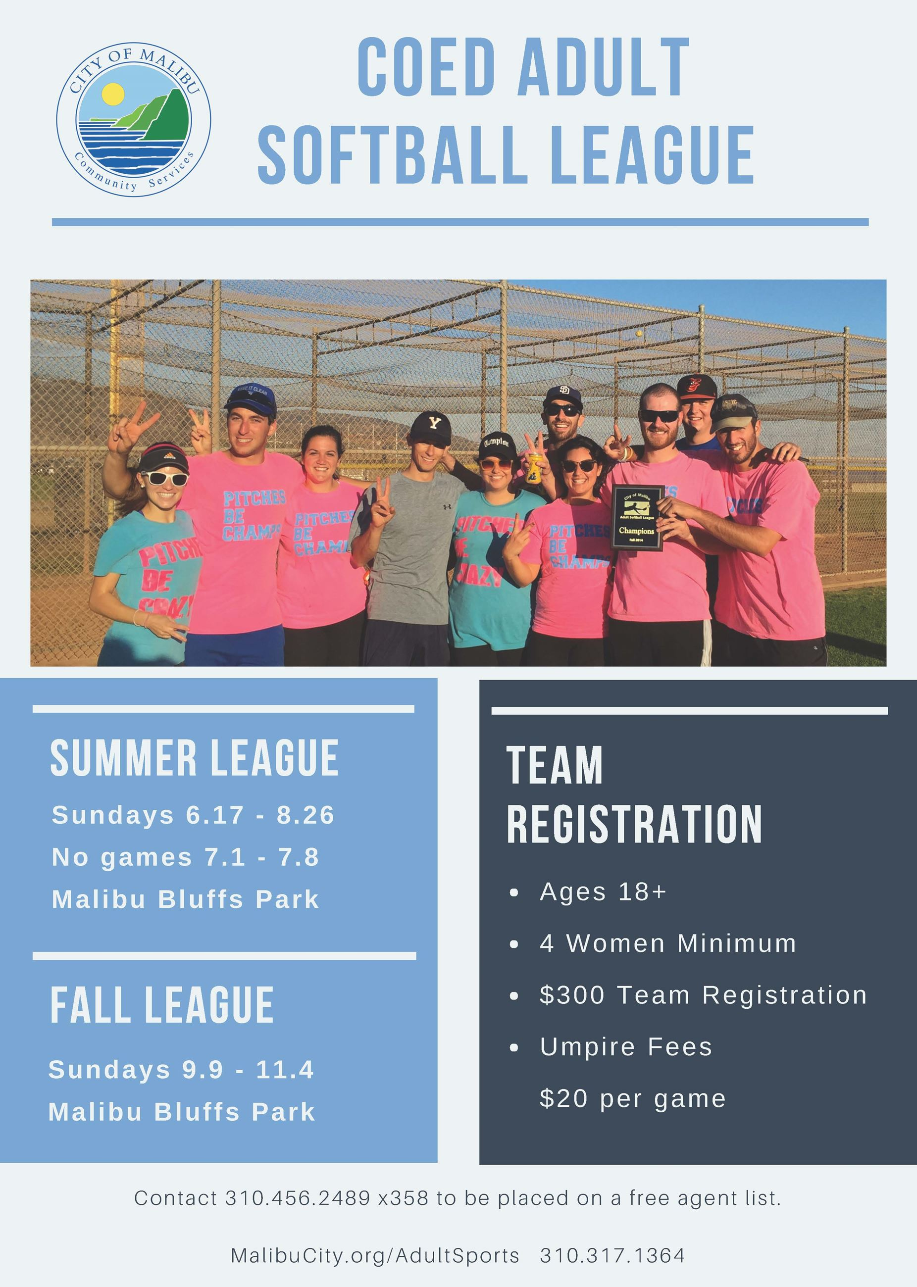 Adult Softball Flyer 2018