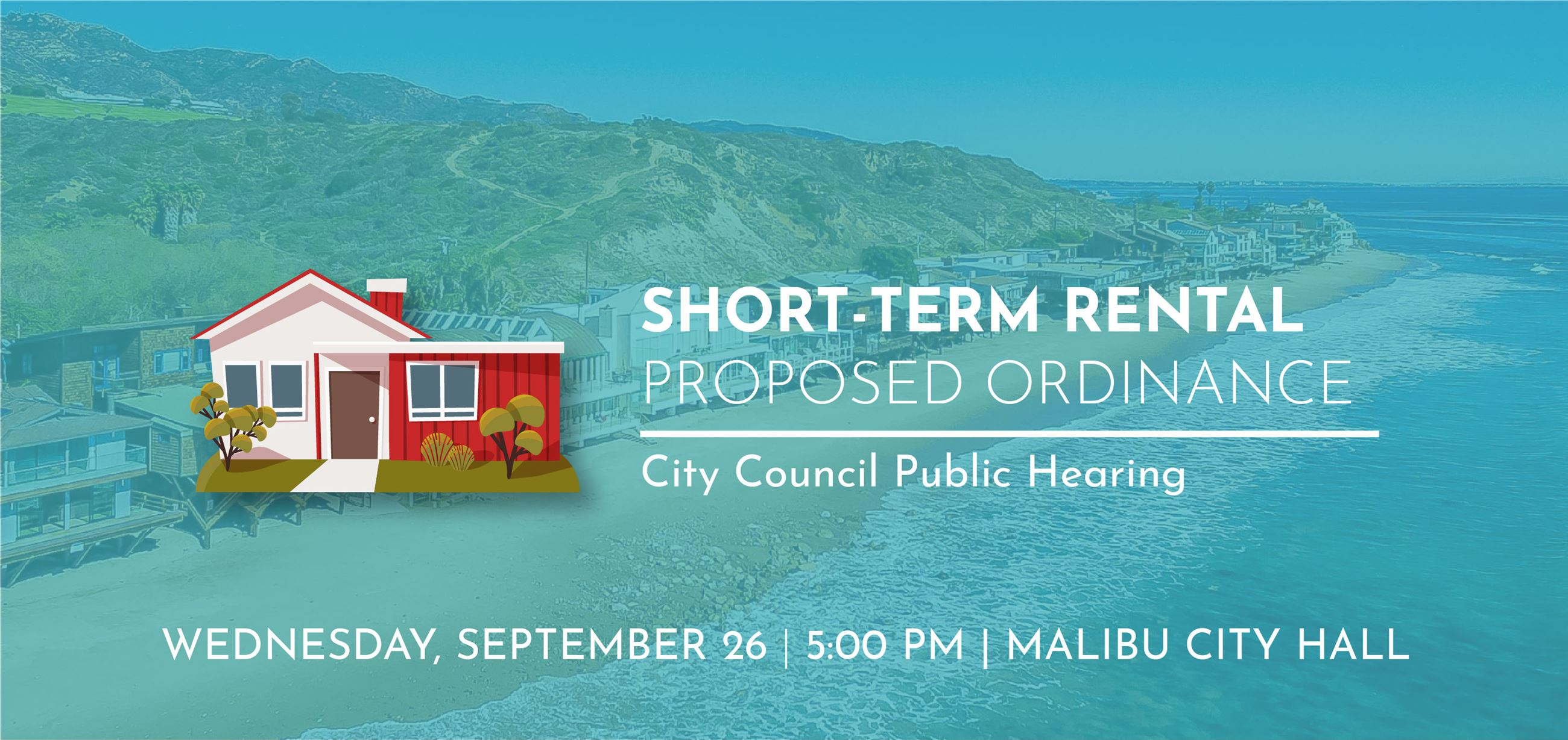 Short Term Rental Ordinance - September 26, 2018 Public Hearing