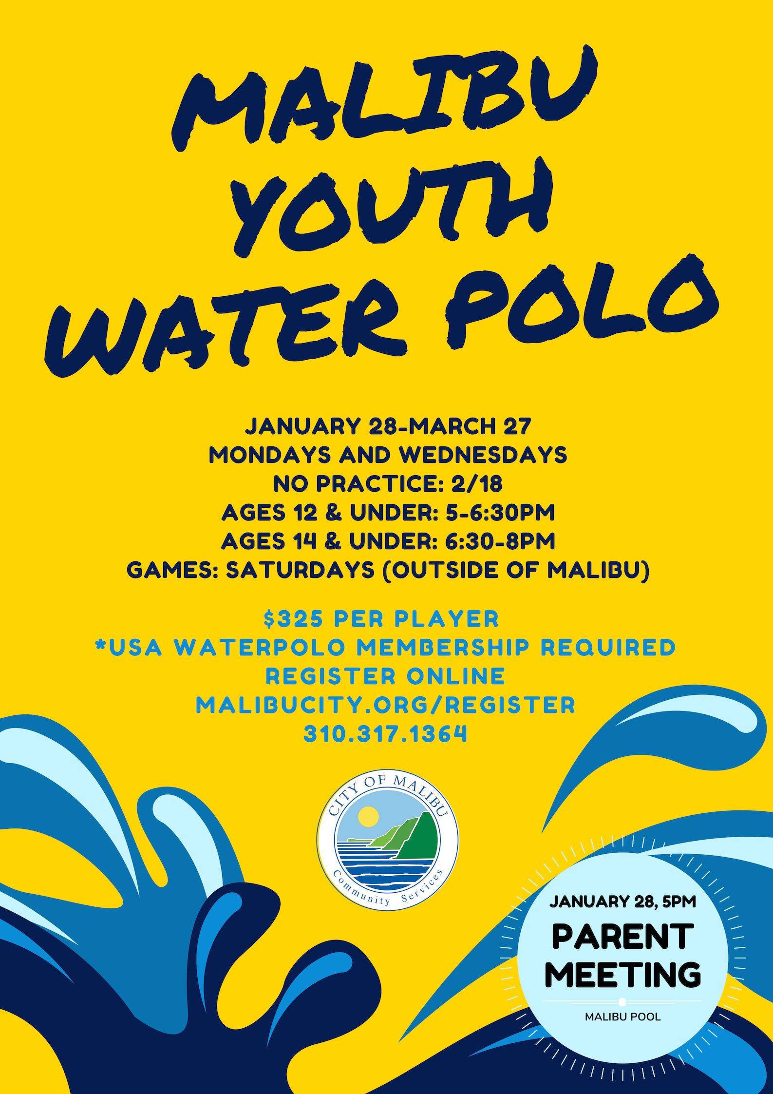 Youth Water Polo Winter 2019