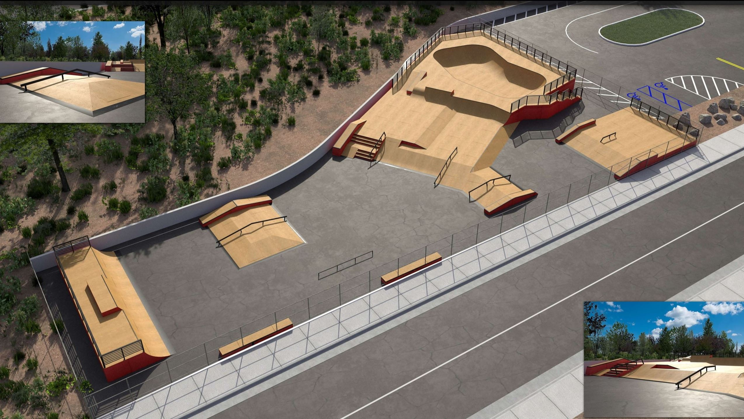 Temporary Skate Park Concept and Design