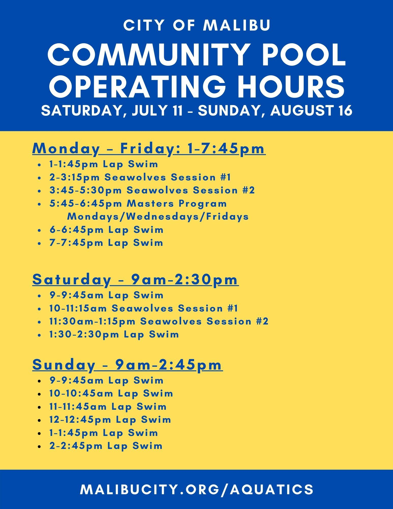 Operating Hours UPDATED