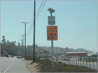 Pacific Coast Highway Speed Advisory Sign