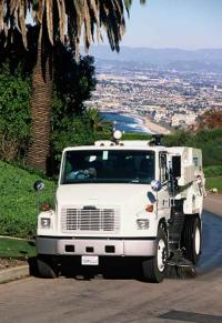 Street sweeping in Malibu